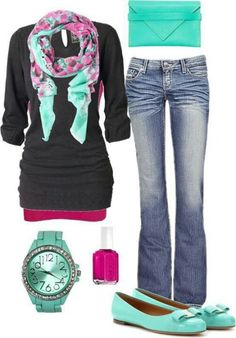not the bag or the watch - or really the shoes for that matter but the top and scarf for sure - anytime wear*