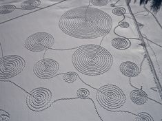 Amazing Snow Art Made With Snowshoes