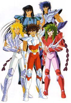 Saint Seiya Los Caballeros de la Esperanza: Seiya, Shiryu, Hyoga, Shun e Ikki