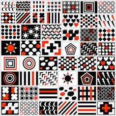 Black & White & Red Patterns for Your Newborn: Free Printables