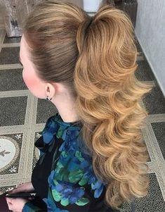 glamorous high ponytail
