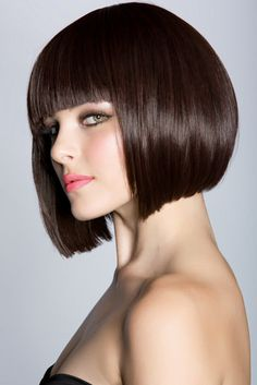 Whether short or long, straight or curly, polished and frizz free is in this season.    To change up your look - try this classic yet edgy A Line bob, flattering to all face shapes and wave patters. Pair it with heavy nags to accentuate the eyes and cheek bones - - - keeping your look chic yet trendy - modern and classic at the same time. Easy to maintain and looks great as it grows out.
