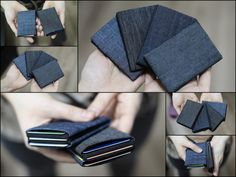 Check out this item in my Etsy shop https://www.etsy.com/listing/251685186/limited-edition-denim-minimalist-wallet