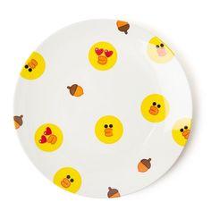 Line Friends Official Goods Sally Melamine Dinner dessert Plate Dish M Size  #LineFriends