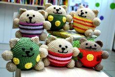 схема, описание, кот, круглый кот, котик, кот горошек, амигуруми, как связать, вяжем крючком, вязание, игрушки, блог