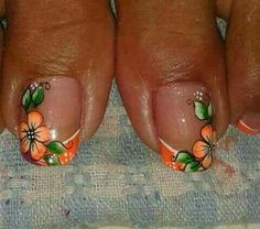 Pedicure Designs, Toe Nail Designs, Gorgeous Nails, Pretty Nails, Feet Nails, Toenails, Nails Only, Pretty Nail Designs, Flower Nail Art
