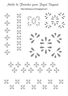 Lika Hanyuu - Artesanato -Papel Vegetal XD: [Molde Pattern] Papel Vegetal Furos - Diversos