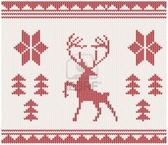 Christmas Knitted Background With Deer, Trees And Ornament Royalty Free Cliparts, Vectors, And Stock Illustration. Image 11916370.