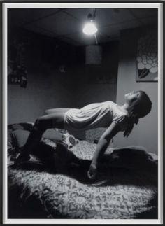 kiameku: Susan Hiller Homage to Yves Klein. Levitation (Child) 2011 Archival c-type black and white print on dibond