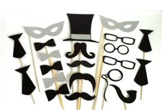 Adorable Wedding Masks - Great as photo booth props