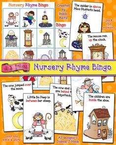 Bingo game for teaching positional words. Created by Bobbi Reitz, using clipart by DJ Inkers