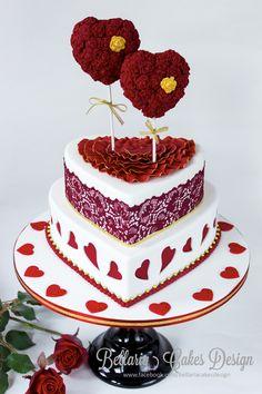 A Valentines Day Themed Wedding Cake Xxx Riany