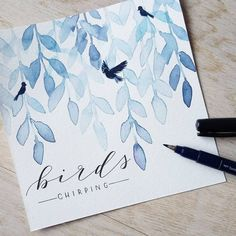 Drawing Tips drawful Watercolor Lettering, Watercolor Cards, Watercolor And Ink, Watercolor Illustration, Watercolour Painting, Watercolor Flowers, Painting & Drawing, Hand Lettering, Watercolors
