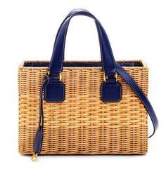 Shopper in paglia Mark Cross bicolor - #summerbag #bags #bag