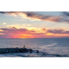 Sonnenuntergang bei Rize, Felsen in Bucht, türkisches Schwarzmeer, Fotograf: W. Schmitz #Fototapete #Schwarzmeer #Türkei #MerianBildservice #Felsen #Meer #Sonnenuntergang #Merian #Schmitz