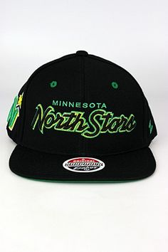 Zephyr Headliner Minnesota North Stars Snapback Hat Black - Green - Yellow