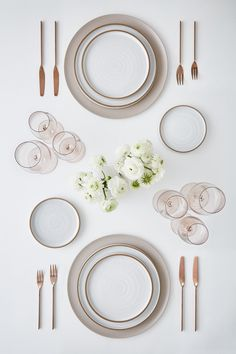 PLACE SETTING DESIGNS - GREYSTONE TABLE Table Plate Setting, Table Setting Design, Photoshop, Place Settings, Table Settings, Pottery Place, Table Top View, Library Furniture, Kitchen Tops