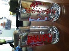 College Glasses for graduates or alumni - dollar store crafts