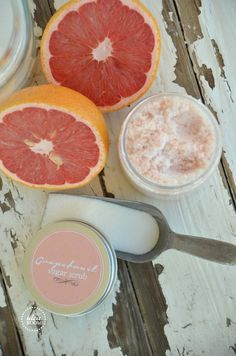Grapefruit Sugar Scrub Recipe | theidearoom.net