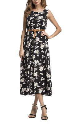 304bf62d92f5c Maternity Styles - clingy maternity dresses : Casual Dresses Calf Length  Sleeveless Floral Dresses Below Knee for women L *** Learn more at the  image web ...