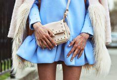 greenteanosugar: Baby blue dress!