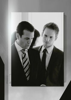 harvey and mike Mike Ross Suits, Suits Harvey, Suits Tv Series, Suits Tv Shows, Patrick J Adams, Gabriel Macht, Harvey Specter, Hollywood Actor, Best Tv Shows