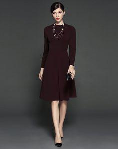 #AdoreWe GYALWANA Dark Red A Line Mini Dress - AdoreWe.com