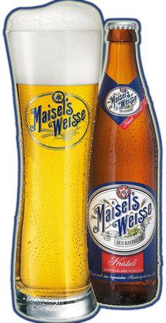 Cerveja Maisel's Weisse Kristall, estilo German Kristallweizen, produzida por…