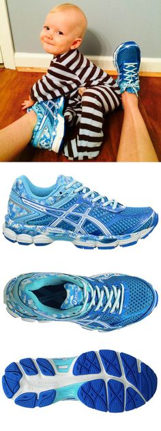 Lace up a brand new pair of blue Asics to kick off your new mom workout routine! Baby not included ;)