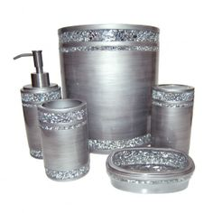 Silver Bathroom Accessories Set   Home Design Ideas And Pictures