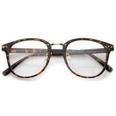 687f2dabd53c Vintage Indie Horned Rim Clear Lens Glasses A370