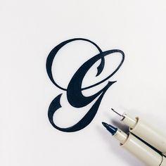 Instagram: U0027Gu0027 By @christophercraig_ Calligraphy Letters, Typography  Letters, Caligraphy,