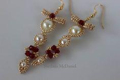 Beaded Earrings BOW http://youtu.be/0BecnR5mdps