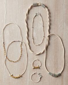 8 DIY jewelry ideas from regular hardware supplies.