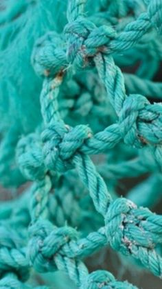 Turquoise Teal Rope. This colour is really exciting us at the moment.