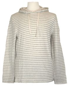 Lucky Brand Mens Shirt Hoodie Striped Knit Cotton Heather Grey Sz XL NEW $69.50 #LuckyBrand #Hoodie