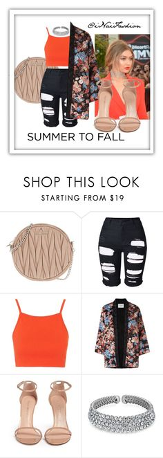"""""""Untitled #686"""" by inaifashion ❤ liked on Polyvore featuring Miu Miu, Topshop, L.K.Bennett, Stuart Weitzman, Bling Jewelry, NYFW, contest, contestentry and fashionset"""