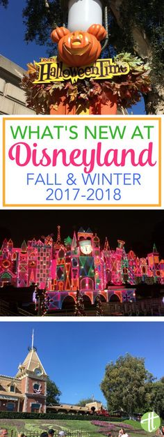 Visiting Disneyland in Fall or Winter 2017? What's new in Disneyland Park and Disney California Adventure for Halloween Time, Mickey's Halloween Party, and the Holidays at Disneyland. Plus rumors of what is to come in early 2018!