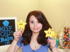 Mario Star Rice Krispy Treat Pops