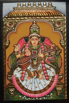 More Tanjore Paintings - Golden Streak Adorn Your Life with ART Mysore Painting, Kerala Mural Painting, Kalamkari Painting, Tanjore Painting, Pichwai Paintings, Indian Art Paintings, Lord Shiva Painting, Ganesha Painting, Canvas Painting Designs