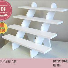 Display stand plan/corner shelf plan/wood shelf plan/corner   Etsy Craft Fair Displays, Craft Booths, Vendor Booth Displays, Gift Shop Displays, Table Top Display, Display Shelves, Display Stands, Wood Display, Display Ideas