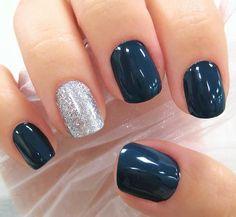 navy & silver sparkle