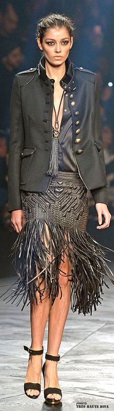 Rock N' Roll chic perfection on the Roberto Cavalli Fall/Winter 2014-15 runway. For everything luxury fashion, make your way over to www.balharbourshops.com