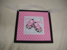 Wild Child Ballet Shoes Wooden Wall Art Sign Baby Girls Nursery Decor Black White Zebra Stripe Pink Polka Dots Flower by The Little Store Of Home Decor, http://www.amazon.com/dp/B00D5DD6L4/ref=cm_sw_r_pi_dp_Mfj3rb11R1RF9