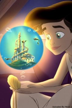 Melody and her locket Melody Little Mermaid, Little Mermaid Movies, Disney Little Mermaids, Disney Love, Disney Magic, Disney Art, Walt Disney, Princesa Ariel Disney, Disney Princess Ariel