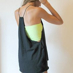 Make a super comfortable baggy halter out of an old shirt. | 26 Brilliant Ways To Repurpose Those Ratty Old T-Shirts