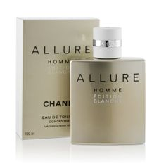 Chanel Allure Homme Edition Blanche Love this scent for men. Perfume Chanel, Chanel Allure Homme, Fragrance Online, Shopping Chanel, Home Fragrances, Skin Makeup, The Creator, Perfume Bottles, Cosmetics