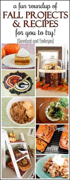 Lots of unique #fall projects and recipes to try! {Sawdust and Embryos} #autumn #decor #recipes