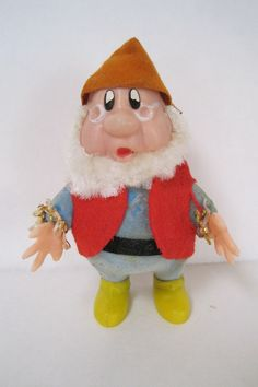 Vintage Walt Disney Snow White Dwarf Doc Christmas Ornament Hong Kong