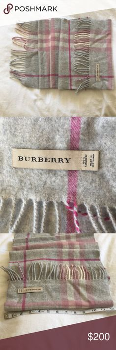 Burberry scarf A beautiful Burberry classic cashmere scarf! It is rarely use and looks pretty new. It also comes with original tags. Just dry cleaned. Trying to downsize my closet. My loss is you gain! Ask about 🅿️. Burberry Accessories Scarves & Wraps